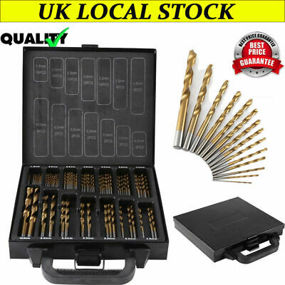 99 TITANIUM COATED HSS DRILL BIT SET 1.5mm-10mm+ STORAGE CASE METAL WOOD PLASTIC • 15.99£