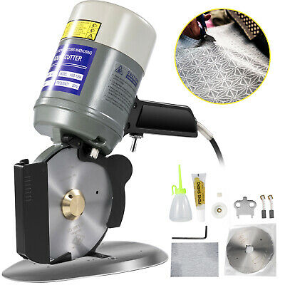 Blade Electric Cloth Textile Cutter 125mm Round Knife Fabric Cutting Machine Saw • 88.99£