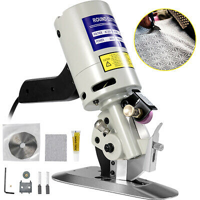 90mm Blade Electric Cloth Textile Cutter Round Knife Fabric Cutting Machine Saw • 53.99£