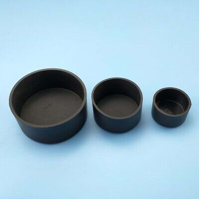 Black Silicone Rubber Chair Table Feet Pipe Tubing End Cover Caps ID 32.5~78.5mm • 31.14£