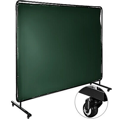 Welding Curtain Welding Screen With Frame Flame-resistant Vinyl 4 Wheels 8' X 6' • 99.68£