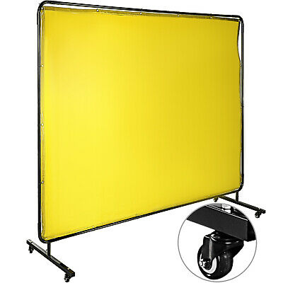 Welding Curtain Welding Screen With Frame 4 Wheels 8' X 6' Flame-resistant Vinyl • 96.99£