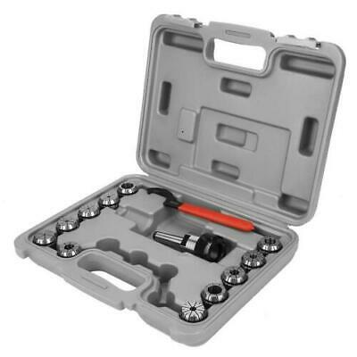 ER32 Collet Chuck Set + MT2 Shank Handle Holder+ Spanner For Milling Machine Box • 37.99£