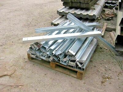 1 GALVANISED STEEL LIPPED CHANNEL IRON 100 X 50mil  C U Section 4ft Long Choice • 14.50£