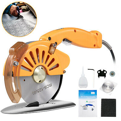 125mm Electric Cloth Cutter Cutting Machine Rotary Fabric Cutter Variable Speed • 122.99£