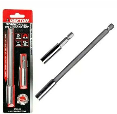 Dekton Magnetic Extension Extra Long Bit Holder 60 & 150mm • 1.99£