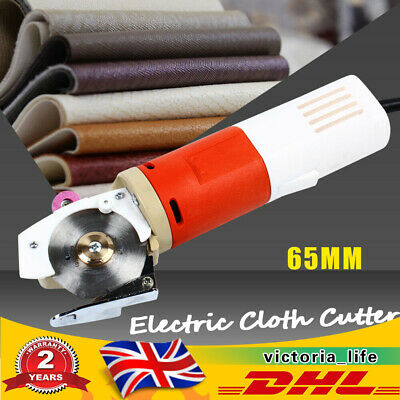 Electric Cloth Cutter Fabric Leather Cutting Machine Scissors Round Blade 65mm  • 45.50£
