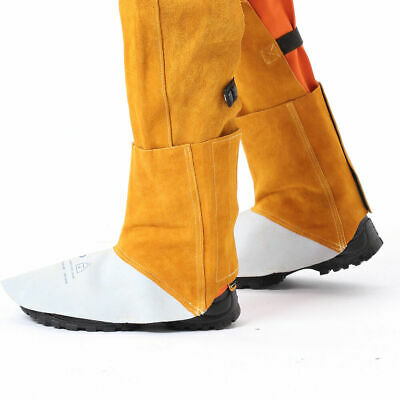 AP-9100 15cm Cowleather Welding Leggings And Spats Gaiter Shoe Cover Protector • 19.59£