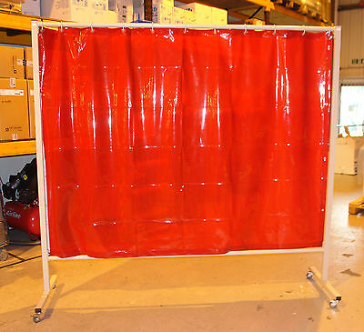 Used Cepro Omnium Orange Welding Curtain And Frame 215cm X 200cm • 125£
