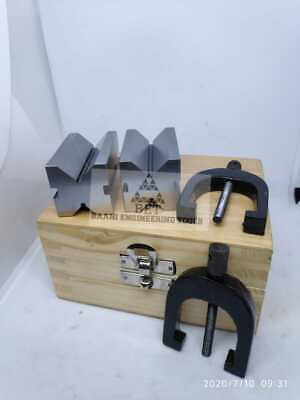Steel V Blocks 2 X1.5 X1.5  With Sets Of Clamp Hardened & Ground • 81£