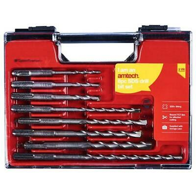 8pc SDS Drill Bit Set Storage Case DIY Power Tool Drilling SDS+ Masonry Bits • 12.50£