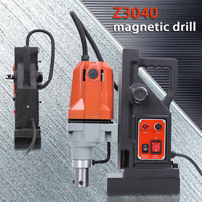 220V 1100W MD40 High Power Magnetic Mag Drill Press Dia.12-40MM 550RPM • 168.02£