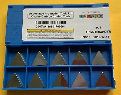 Tpkn1603pdtr-p35-qty10.new.carbide Milling Inserts • 24£