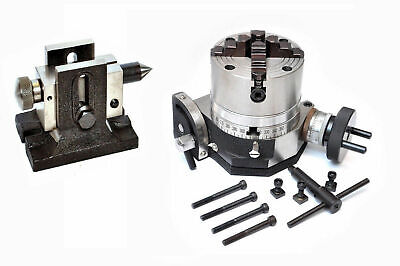 Tilting Rotary Table 4  With 100mm Independent Chuck & Single Bolt Tailstock • 188.09£