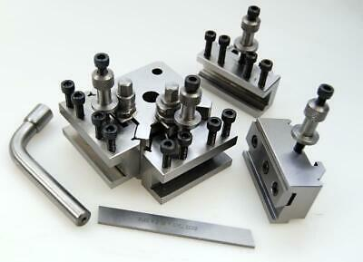 T37 Quick Change Toolpost Set W/h 4 Holders-myford & Lathe 90-115mm Center Heigh • 89.99£