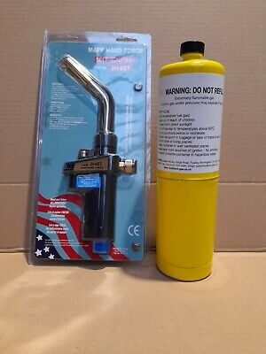 Mapp Self-igniting Hand Torch, JH-6ST, Mapp Gas Bottles, Various Options, Free P • 14.95£