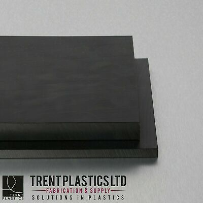Black ACETAL Sheet Copolymer Delrin Plate MANY Sizes • 22.48£
