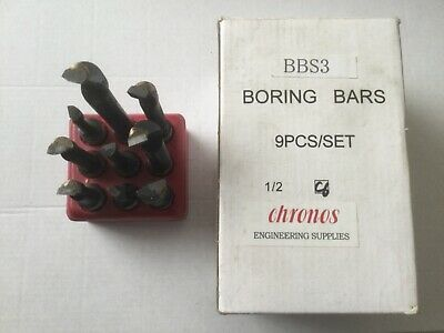 "Chronos - 9 Piece Boring Bar Sets With 1/2"" Diameter Shanks  • 5£"