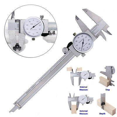 Stainless Steel Dial Caliper Measurement Sliding Woodworking Shock Proof • 24.51£