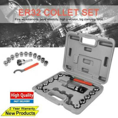 ER32 Collet Chucks + MT2 Shank Handle Holder+Spanners SET Milling Lathe Tool Box • 38.39£