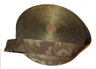 Double Sided MTP /Multicam Camouflage Military Spec 50mm / 2  Webbing - UK Woven • 2.50£