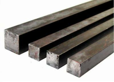 25 20 16 12 10 Mm Mild Steel Section Solid Square Bar Rod Stock Various Lengths • 7.99£