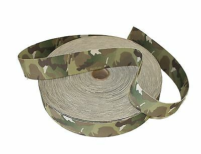 50mm / 2  Double Sided Original Crye Multicam Elastic ( Military Webbing MTP • 7£