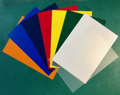 A4 Coloured Polypropylene Plastic Sheet 0.5mm Model Making, Arts & Crafts • 1.05£