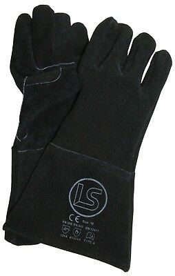 Langley Branded Black Woodburner - Welders Gauntlet - BBQ Glove • 4.10£