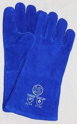 Langley Branded Blue Woodburner - Welders Gauntlet - BBQ Glove • 4.10£