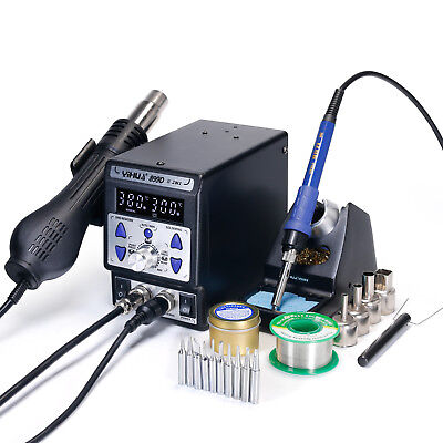 YH899D Series 2IN 1 UPGRADE CONSTANT TEMP. HOT AIR REWORK SOLDERING IRON STATION • 95.99£