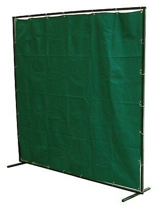 Welding Curtain 4 X 6 Ft Fibreglass Screen Flame Retardant With Frame And Rings • 60£