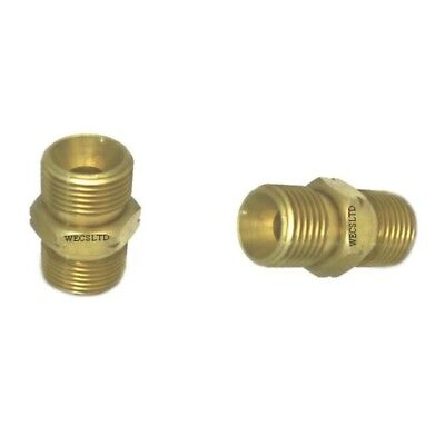Oxy Acetylene 3/8  BSP Hose Joiners Equal Couplers Left Hand Thread Connectors • 6.10£