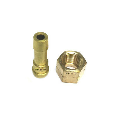 Swp 3/8  Bsp Female Thread To 5/16  Hose Fitting Left Hand Nut + Hose Tail Set • 3.99£