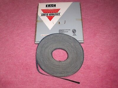 E.A.C. Emery Abrasive Cloth Coil Blue Best - Grit 120 25mm X 50 Metres Code 101  • 21£