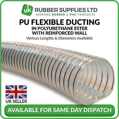 Clear Flexible Ducting Hose/pipe For Ventilation Of Dust & Fumes Woodworking • 69.10£