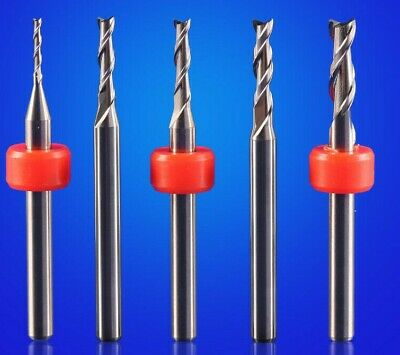 Professional Aluminium Cutting End Mill CNC Bit 1mm 1.2mm 1.5mm 2mm 2.5mm Or 3mm • 19.95£