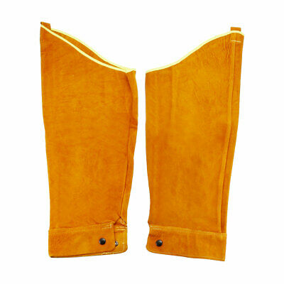 Leather Work Sleeves Yellow For Welding Process Arm Protection 1 Pair • 21.60£