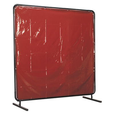 SSP992 Sealey Workshop Welding Curtain To BS EN 1598 & Frame 1.8 X 1.75mtr • 184.35£