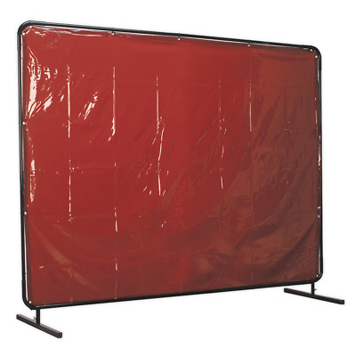 SSP993 Sealey Workshop Welding Curtain To BS EN 1598 & Frame 2.4 X 1.75mtr • 215.20£