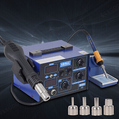 YIHUA 700W 240V 2 In1 862D+ SMD Hot Air Gun Soldering Iron Station Rework Welder • 73.18£