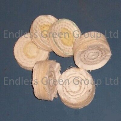 Stitched Cotton Buffing Wheel For Drill Polishing - Width Choice - 50mm Diameter • 7.95£
