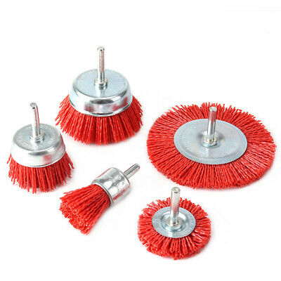 5Pc 25-100mm Abrasive Wire Brush For Metal Polishing Rust Remover Deburring • 13.69£