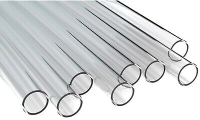 CLEAR PERSPEX / ACRYLIC TUBE, NEW 60mm O/D X 50mm I/D (Bore) X 5mm Wall • 12.50£
