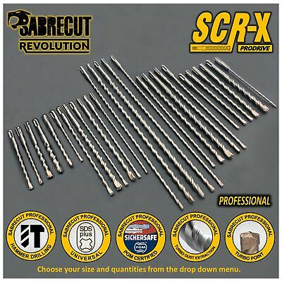 SabreCut Professional 5mm - 12mm PGM Approved Turbo SDS Drill Bits • 16.99£
