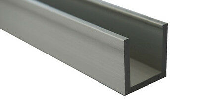 For 8-10mm Glass 1.5 Meter Aluminium Channel (U Section,Capping, Profile) • 19.95£