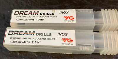 4.3mm Carbide Drill 3xD Cooling Holes DH451043 • 22£
