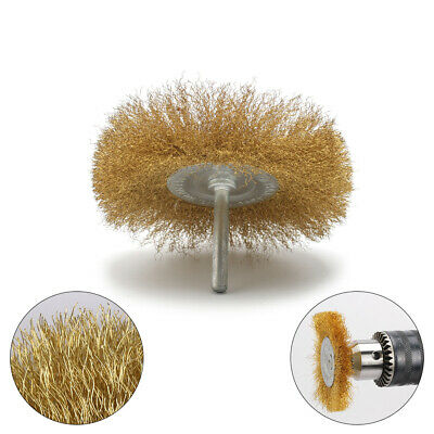 2Pcs Brass Wire Wheel Brushes For Metal Rust Removal Polishing Brush Rotary Tool • 4.67£