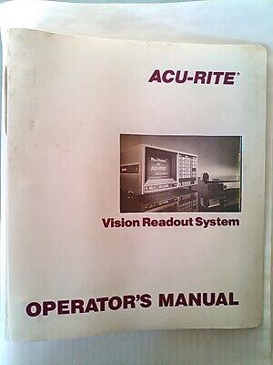 ACU-RITE MILLVISION OPERATORS MANUAL And A Detachable QUICK REFERENCE GUIDE • 4.99£