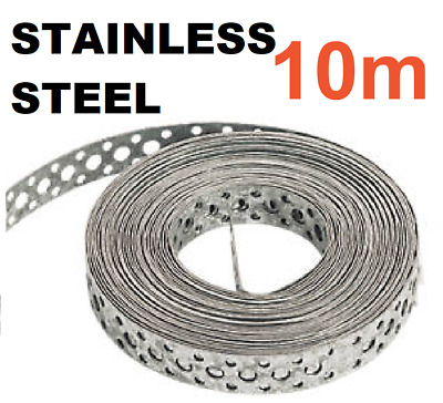 Engineers STAINLESS STEEL Metal Punched Perforated Strip Strap 10M Metre  • 37.95£